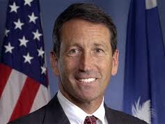 Rep. Sanford, seen here with the healthy orange hue of success.