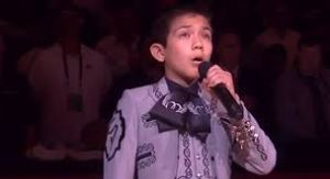 His name is Sebastien De La Cruz, he is 11 years old, and he seriously rocked the National Anthem.