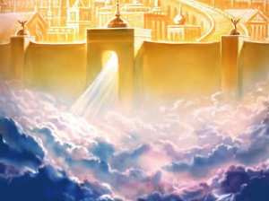 """Streets of gold, pearly gates, in the clouds.... I KNEW IT!"""