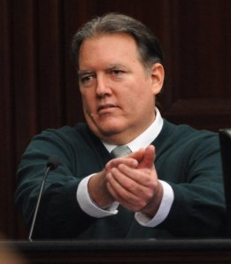 "Michael Dunn, demonstrating how a person ""stands his ground"" against an unarmed teenager."