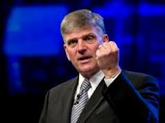 Franklin Graham, demonstrating the knuckle sandwich he'd like to give all those gays. And those Muslims, while we're at it....