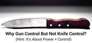 Or, it might be because you can't chop up celery with a handgun...