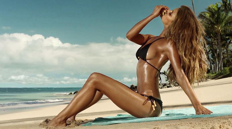 Hardees bikini girl