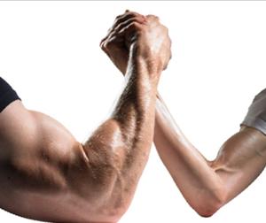 Arm wrestling with God....