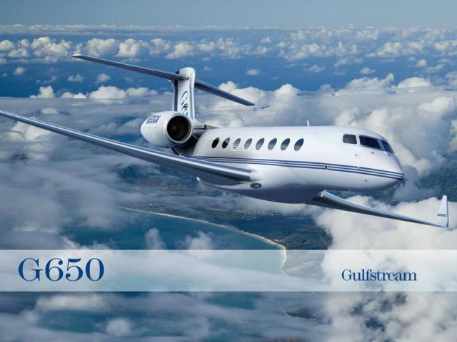 This is a picture of the Gulfstream G650. I happened to get this particular photo off Pastor Bill Johnson's Facebook Page.... But whatever.