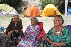 These are some of the Apache Elders who are protesting this mine. Without adding our voices to theirs, they might not be able to make enough noise....