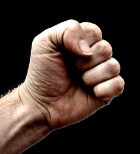 The thing about clinched fists is that they hurt people a lot easier.