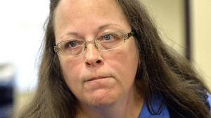 This is the face Kim Davis makes when people use their fancy