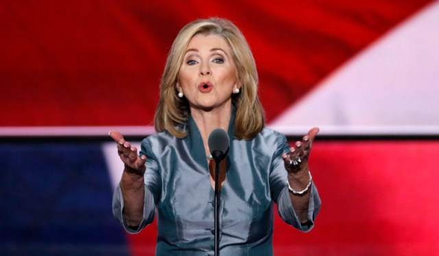 Representative Marsha Blackburn speaks during the final day of the Republican National Convention in Cleveland