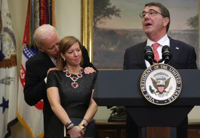 Joe Biden Swears In New Defense Secretary Ashton Carter